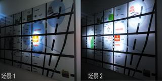 星海中心地产区位图UV软膜动感卡布灯箱